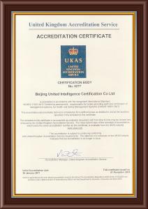 UKAS Cer OHSAS14001